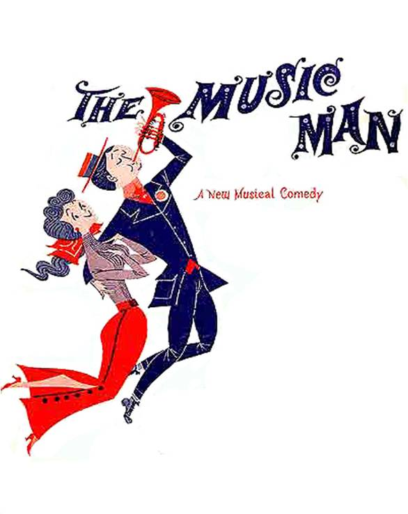 Image result for the music man opens on broadway in 1957
