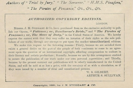 G&S Copyright Notice