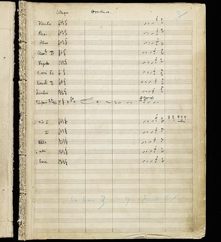 Pinafore Autograph Overture Page 1