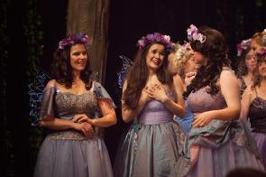 Elise Bjordammen, Kara Beck, Amber Englebert in the Savoy Company's Iolanthe Photo By Helga Yang